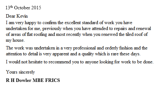 Feedback Stay Dry Roofing Specialists