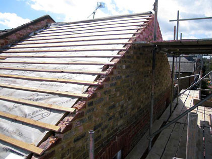 Rebuilding of Gable Apex